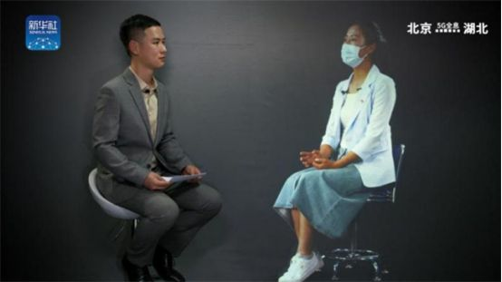 """""""Face-to-face"""" interview with 5G holographic guest"""